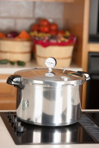 Pressure canning on a stovetop