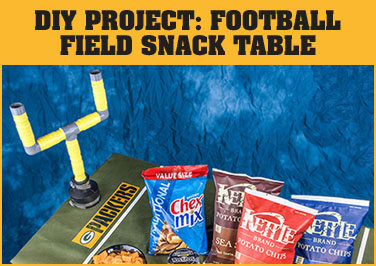 DIY Project: Football Field Snack Table